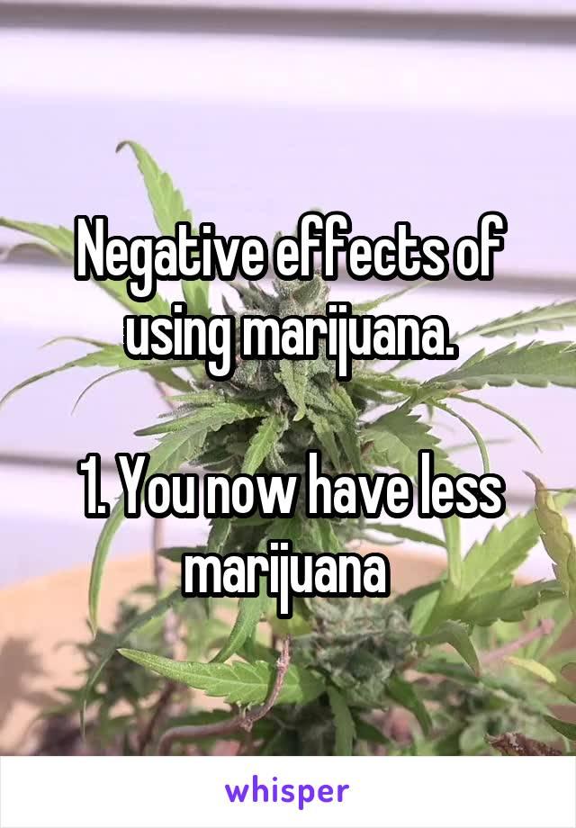 negative effects of marijuana use essay Positive/negative effects of marijuana free essays, positive/negative effects of marijuana papers most popular positive/negative effects of marijuana essays and papers at #1 positive/negative effects of marijuana.