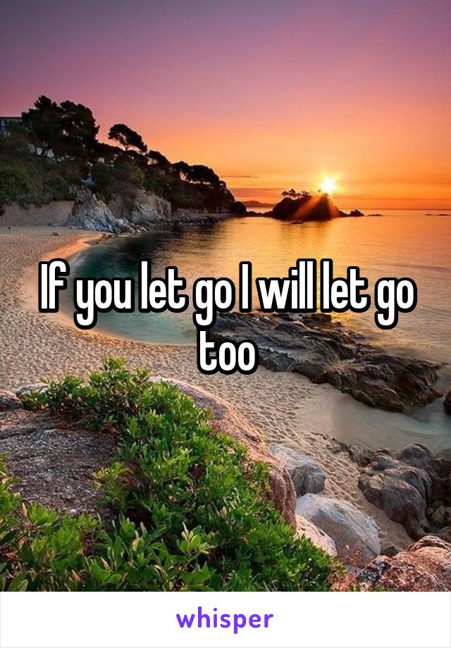 If you let go I will let go too