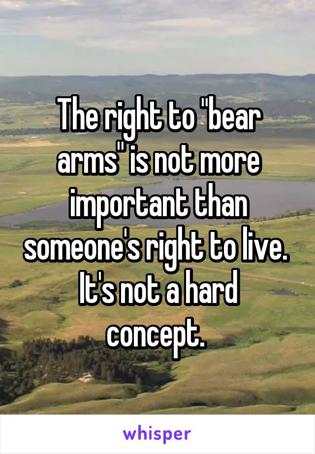 """the right to bear arms is The """"right to bear arms"""" is the 2nd amendment of the united states constitution, which became a law collectively with the 9 amendments composing the bill of rights."""