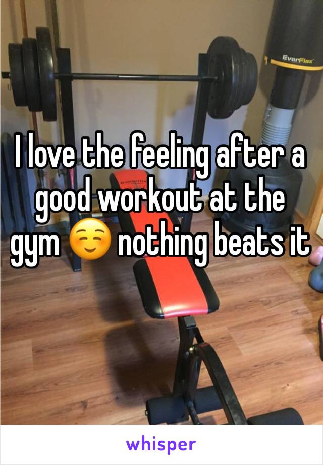 I love the feeling after a good workout at the gym ☺️ nothing beats it