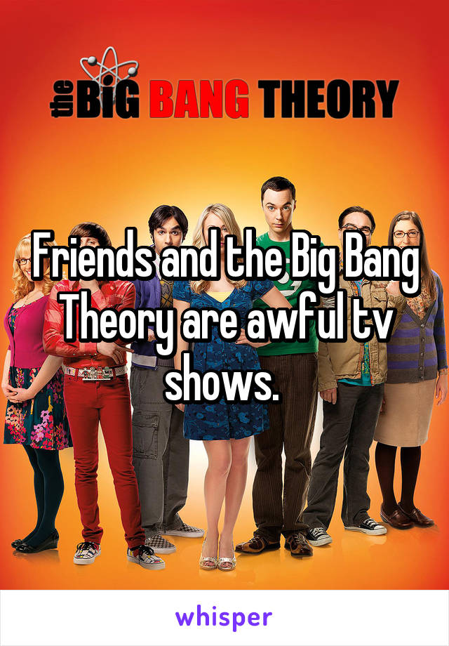 Friends and the Big Bang Theory are awful tv shows.