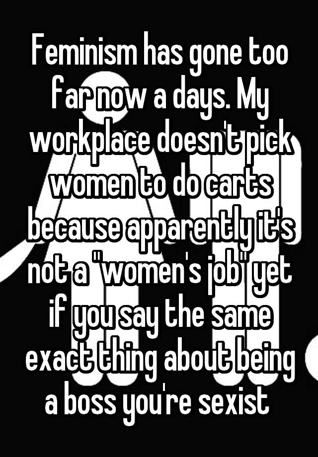 feminism that went too far essay
