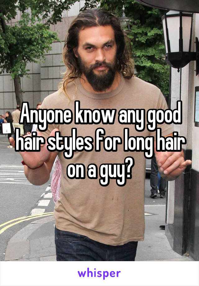 Anyone know any good hair styles for long hair on a guy?
