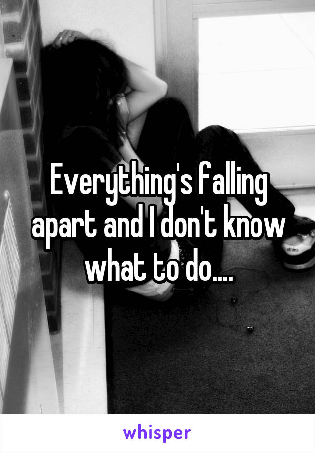 Everything's falling apart and I don't know what to do....