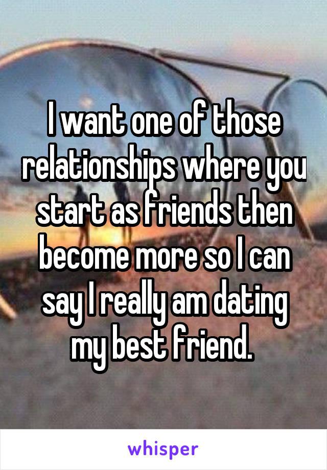 Dating start as friends