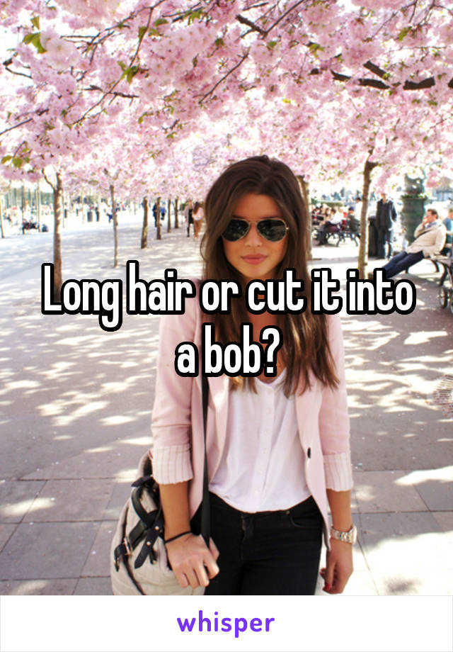 Long hair or cut it into a bob?