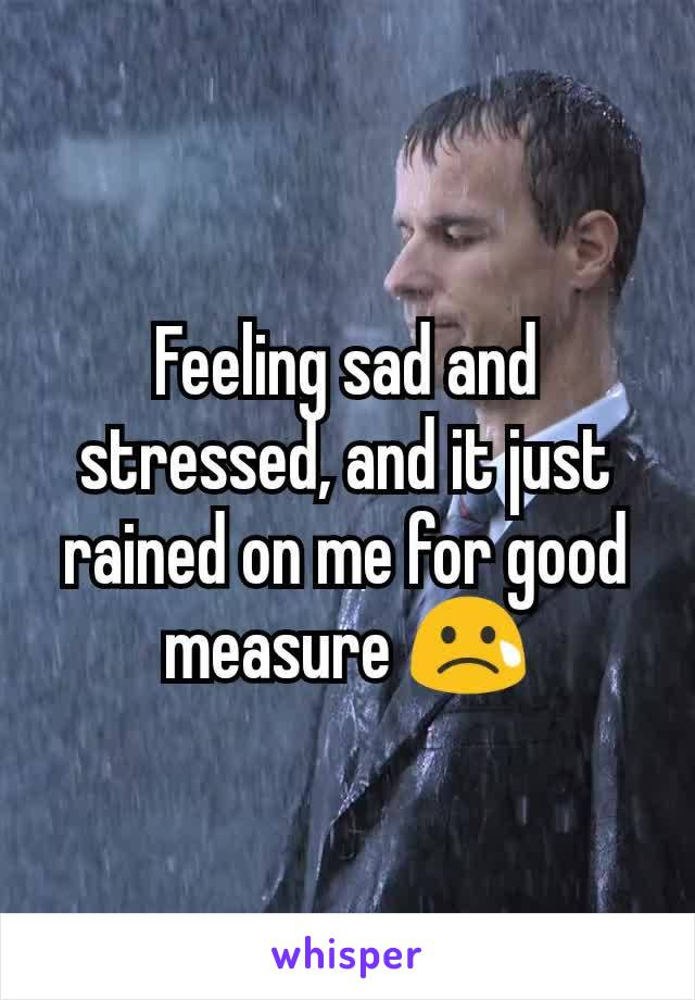 Feeling sad and stressed, and it just rained on me for good measure 😢