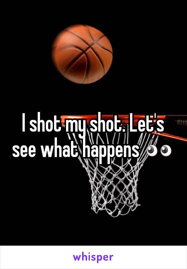 I shot my shot. Let's see what happens 👀