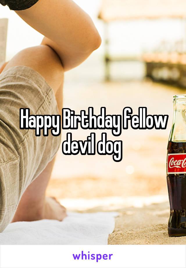 Happy Birthday fellow devil dog