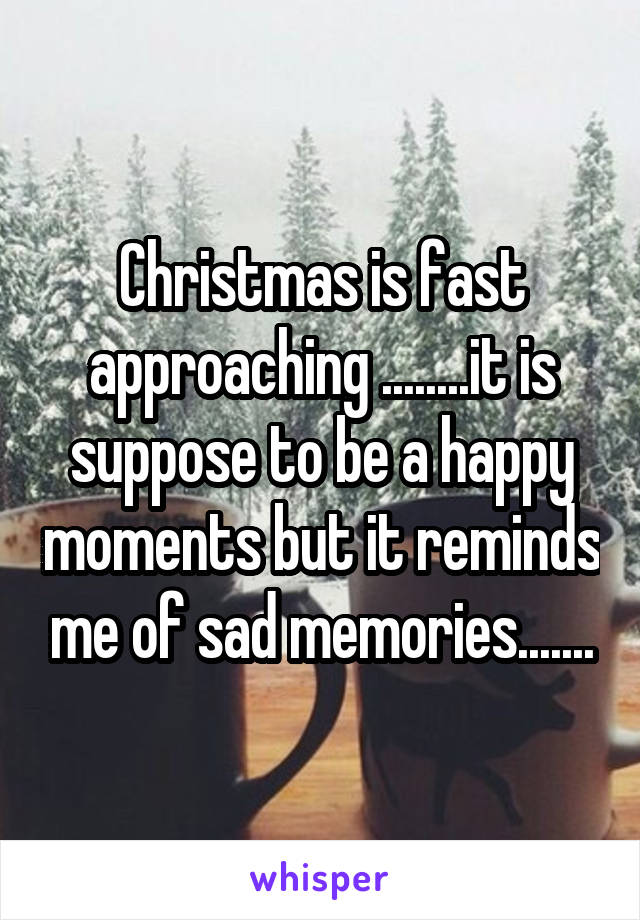 Christmas is fast approaching ........it is suppose to be a happy moments but it reminds me of sad memories.......