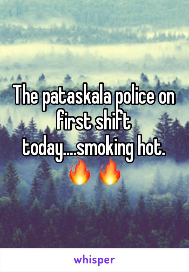 The pataskala police on first shift today....smoking hot.  🔥 🔥