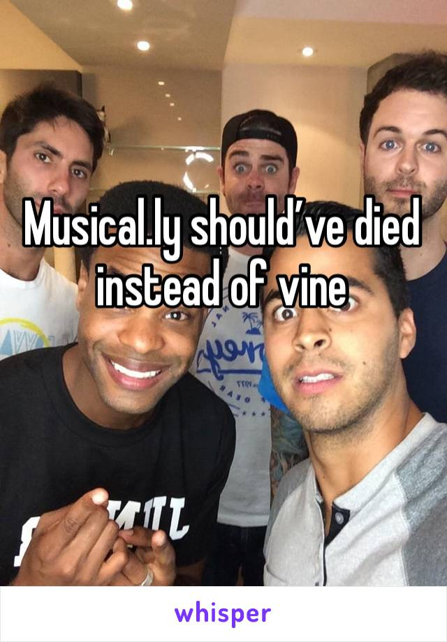 Musical.ly should've died instead of vine