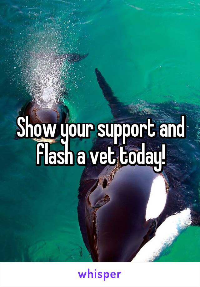 Show your support and flash a vet today!