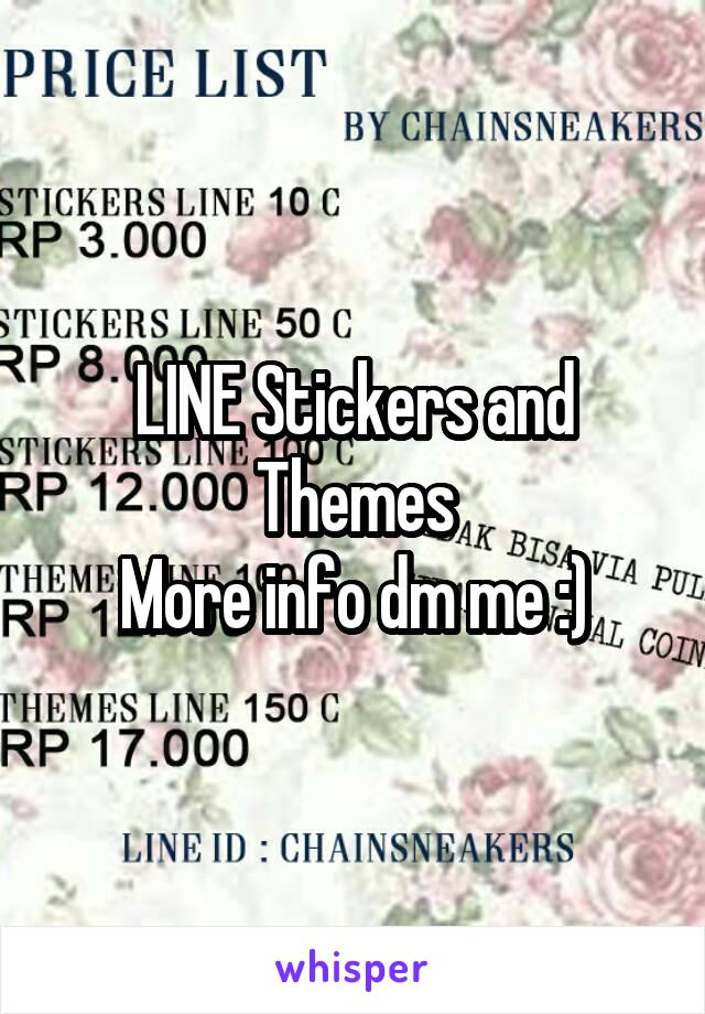 LINE Stickers and Themes More info dm me :)
