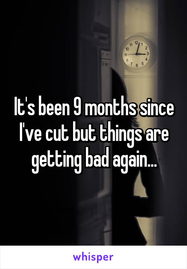 It's been 9 months since I've cut but things are getting bad again...