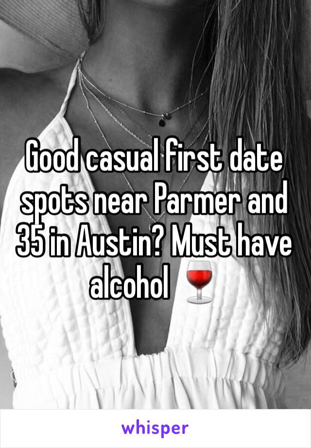 Good casual first date spots near Parmer and 35 in Austin? Must have alcohol 🍷