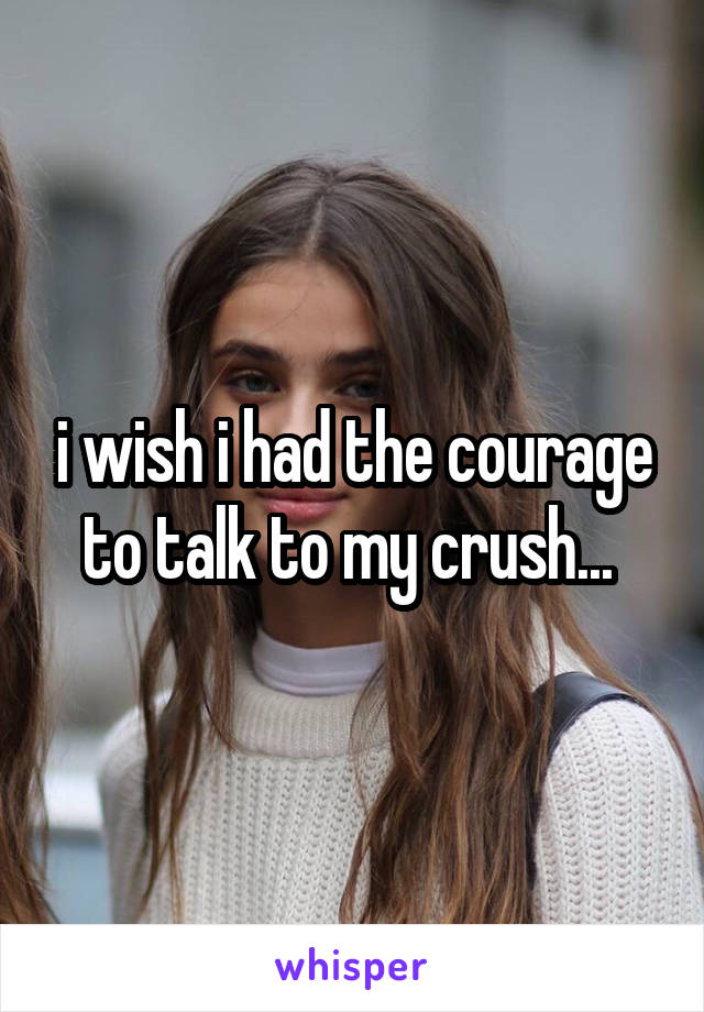 i wish i had the courage to talk to my crush...