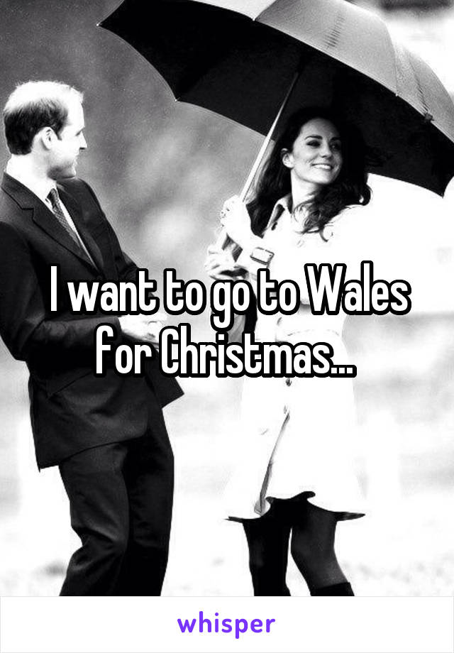 I want to go to Wales for Christmas...