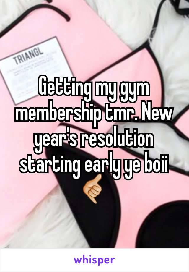 Getting my gym membership tmr. New year's resolution starting early ye boii 🤙🏼