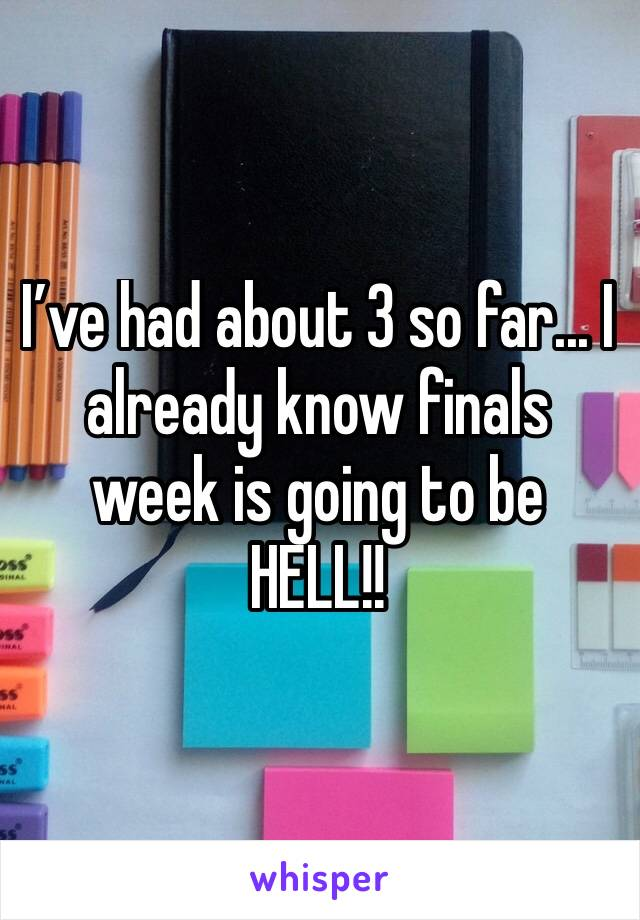 I've had about 3 so far... I already know finals week is going to be HELL!!