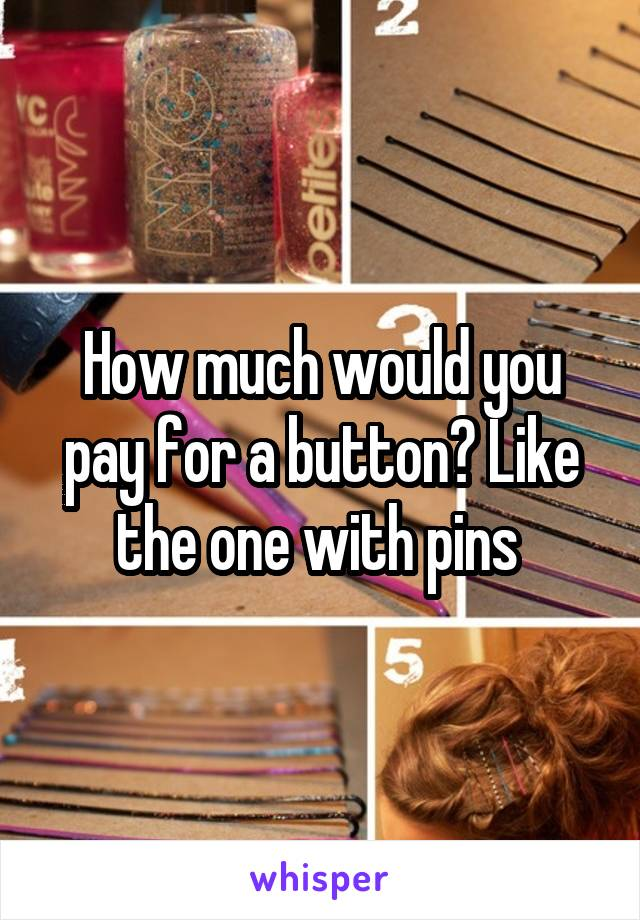 How much would you pay for a button? Like the one with pins