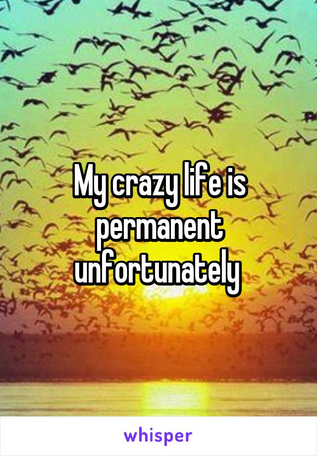 My crazy life is permanent unfortunately