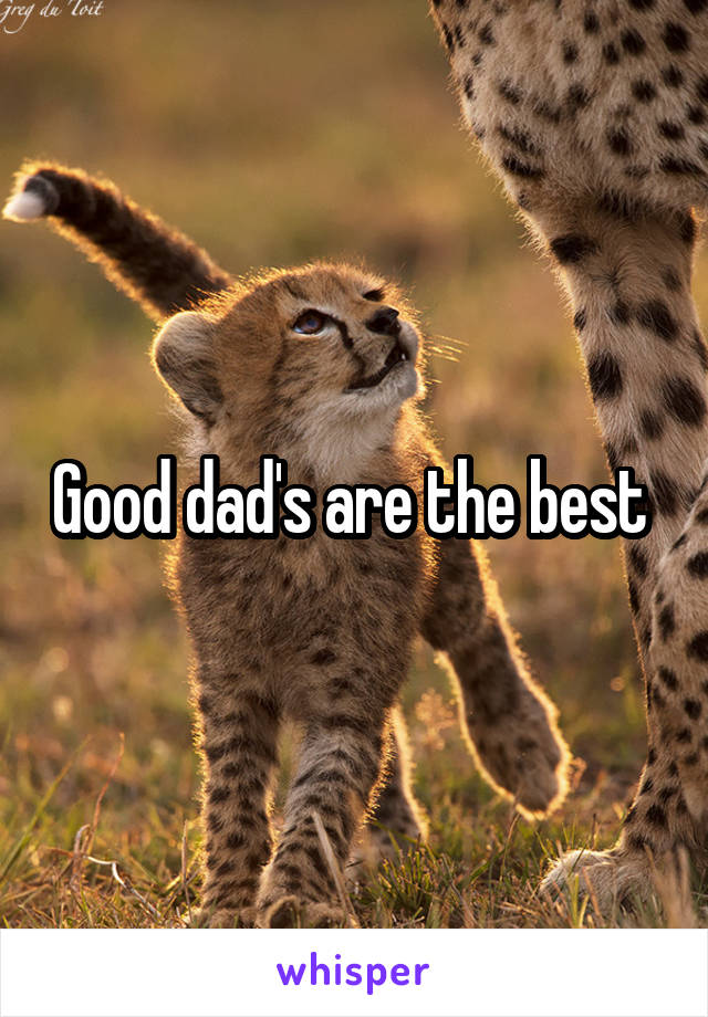 Good dad's are the best