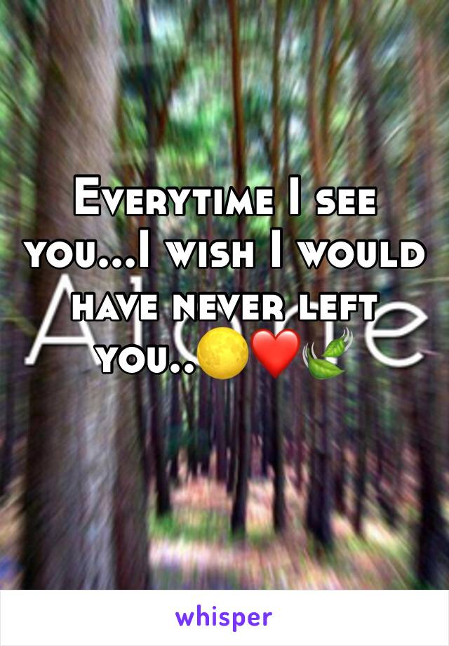 Everytime I see you...I wish I would have never left you..🌕❤️🍃