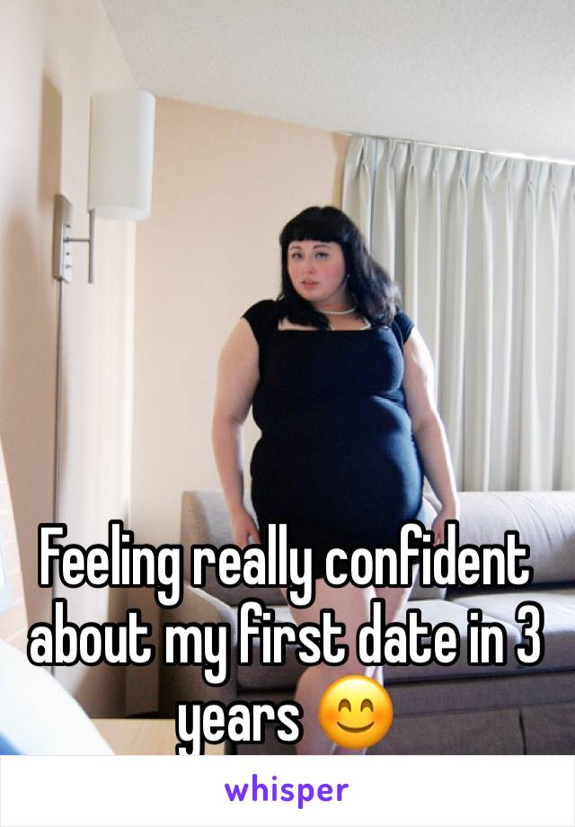 Feeling really confident about my first date in 3 years 😊