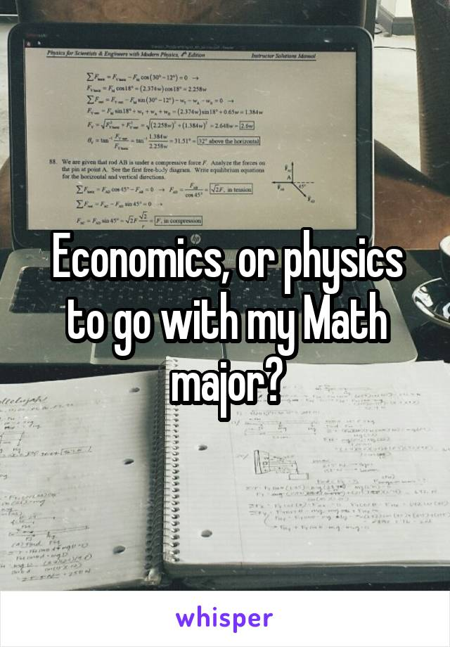 Economics, or physics to go with my Math major?
