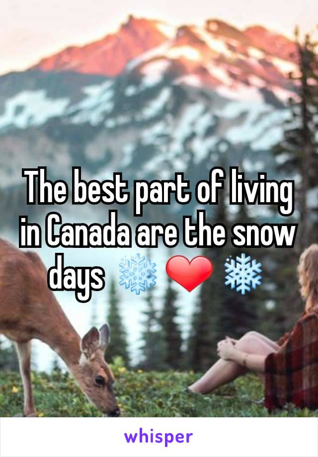 The best part of living in Canada are the snow days ❄️❤️❄️