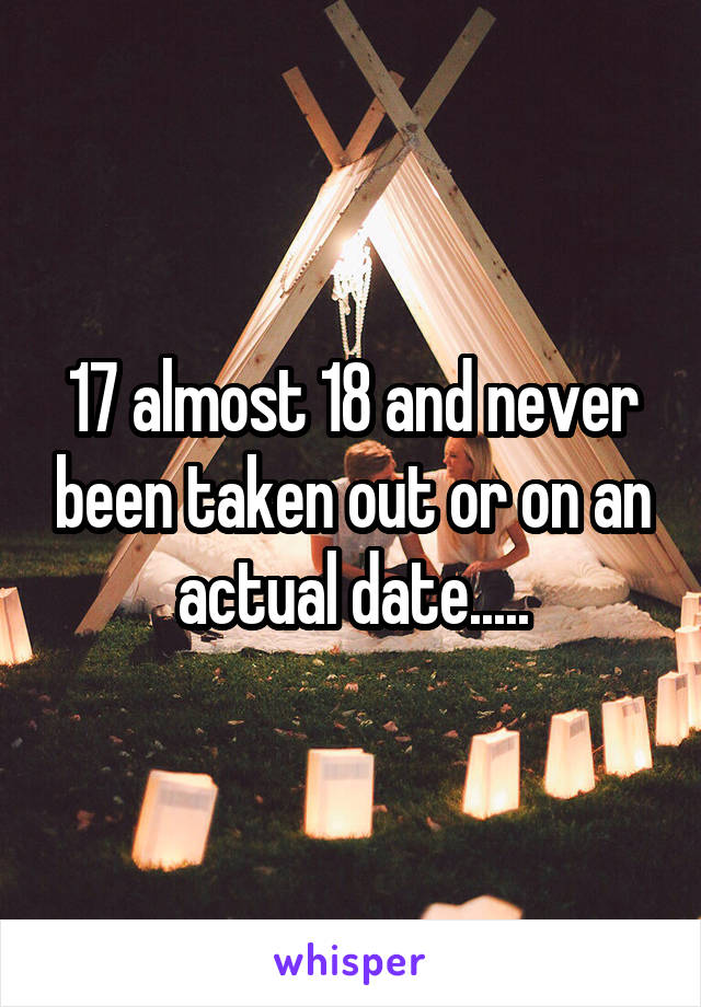 17 almost 18 and never been taken out or on an actual date.....