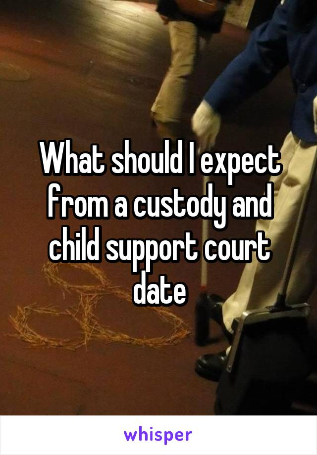 What should I expect from a custody and child support court date