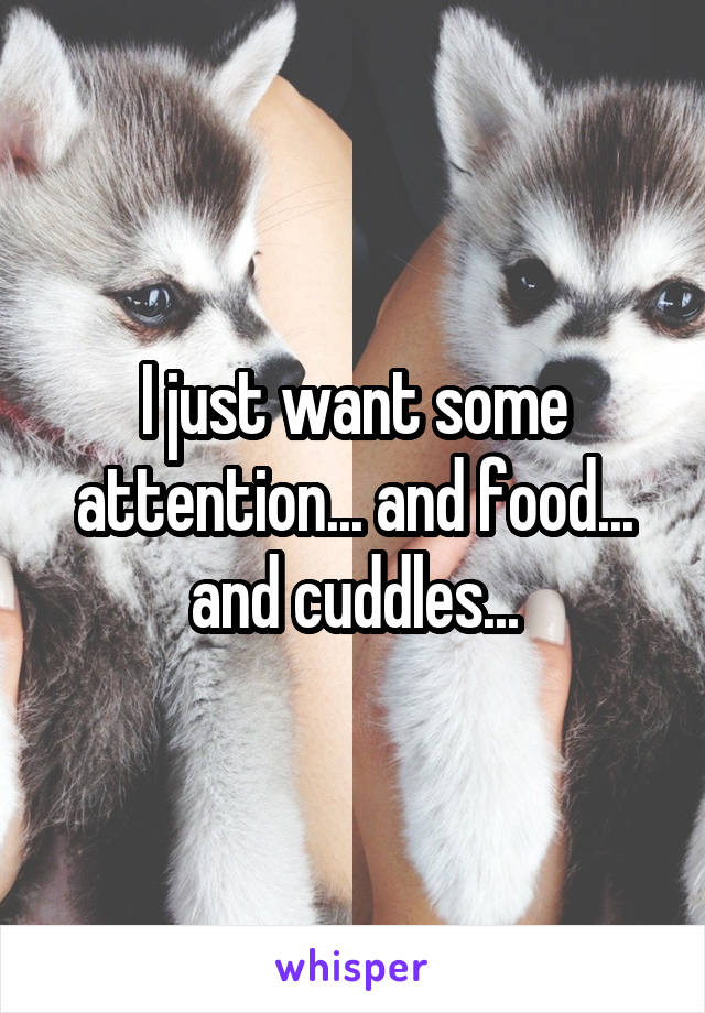 I just want some attention... and food... and cuddles...