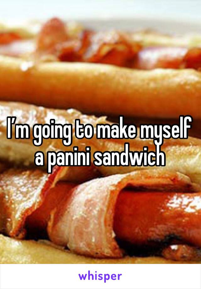 I'm going to make myself a panini sandwich