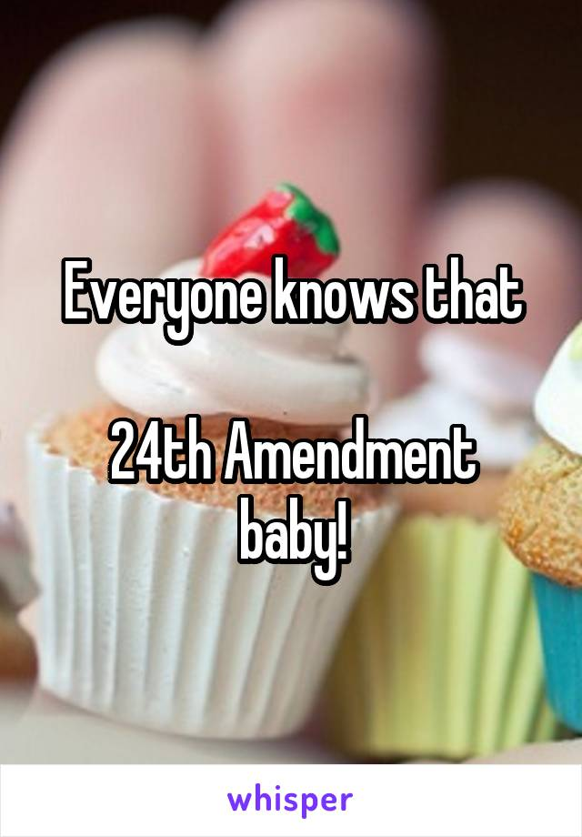 Everyone knows that  24th Amendment baby!