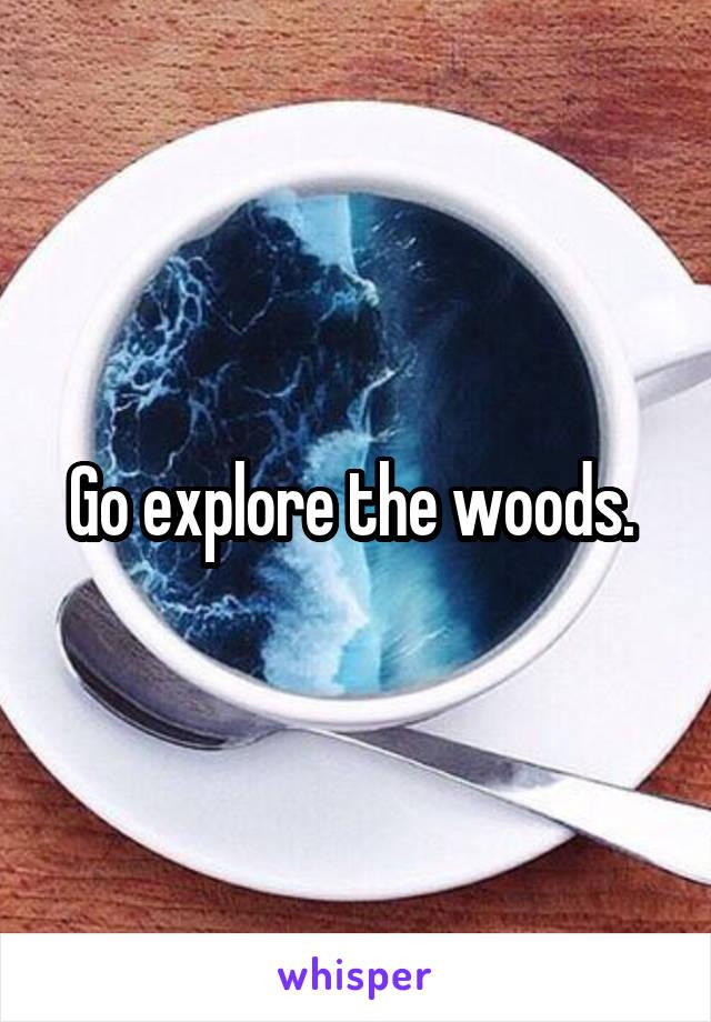 Go explore the woods.