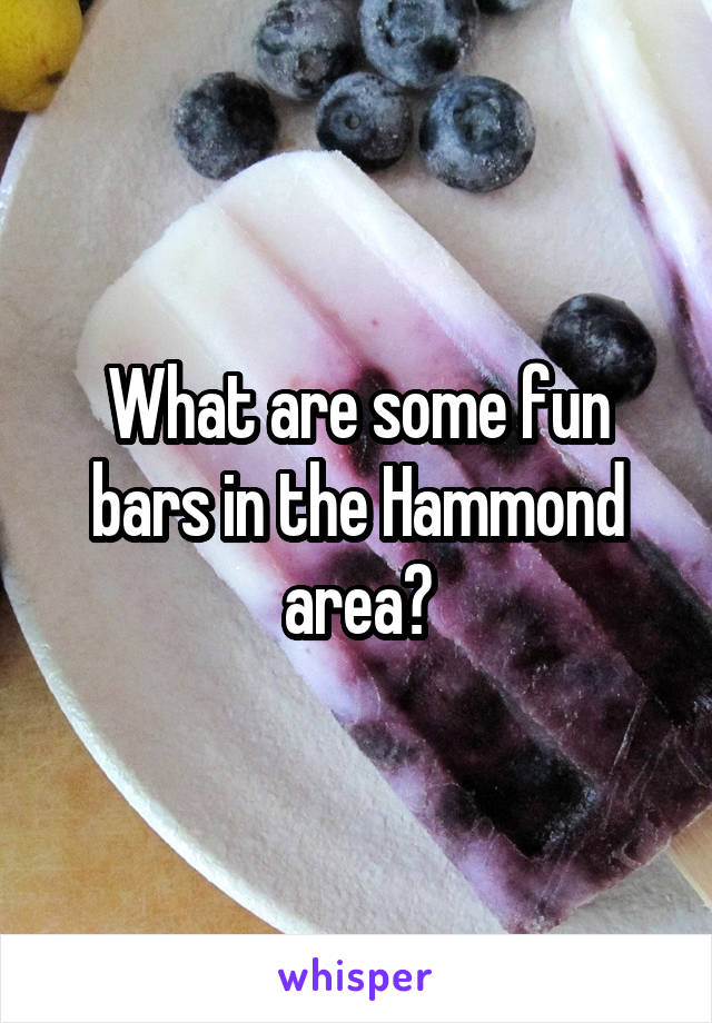 What are some fun bars in the Hammond area?