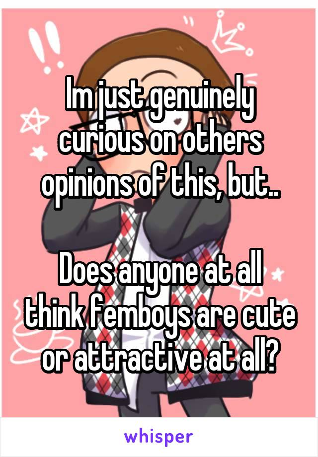 Im just genuinely curious on others opinions of this, but..  Does anyone at all think femboys are cute or attractive at all?