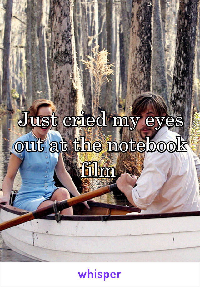 Just cried my eyes out at the notebook film