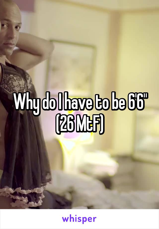 """Why do I have to be 6'6"""" (26 MtF)"""