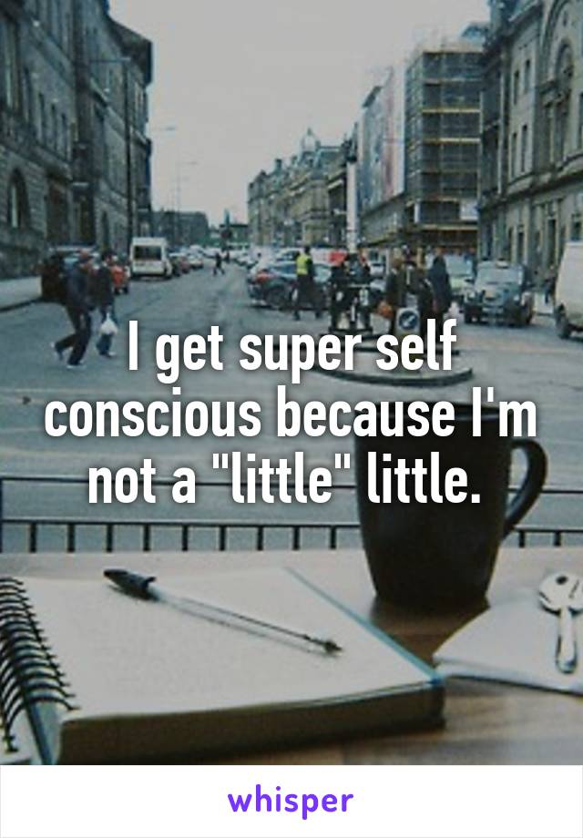"I get super self conscious because I'm not a ""little"" little."