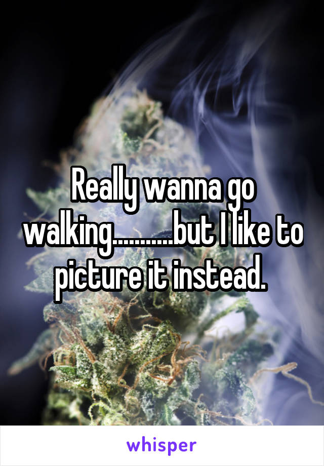 Really wanna go walking...........but I like to picture it instead.