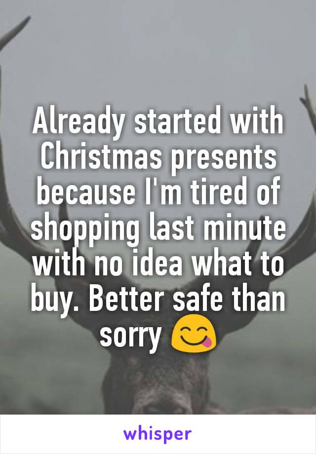 Already started with Christmas presents because I'm tired of shopping last minute with no idea what to buy. Better safe than sorry 😋