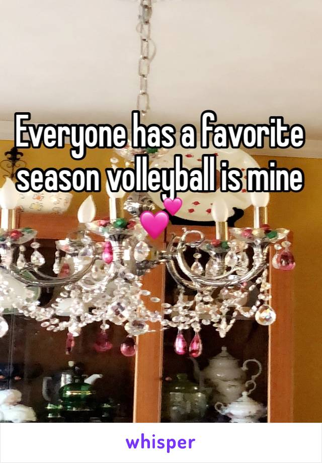 Everyone has a favorite season volleyball is mine 💕