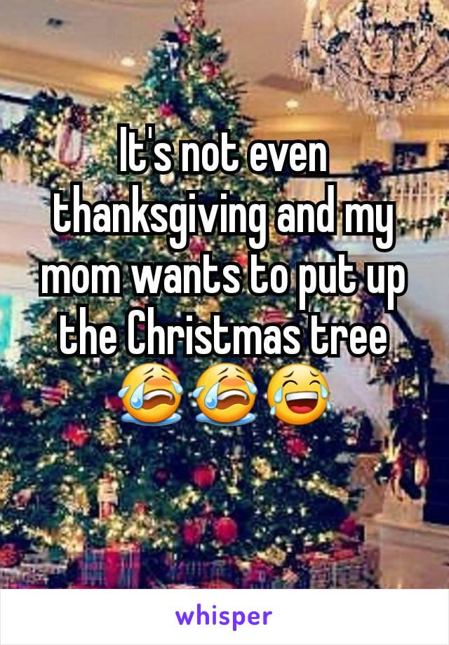 It's not even thanksgiving and my mom wants to put up the Christmas tree😭😭😂
