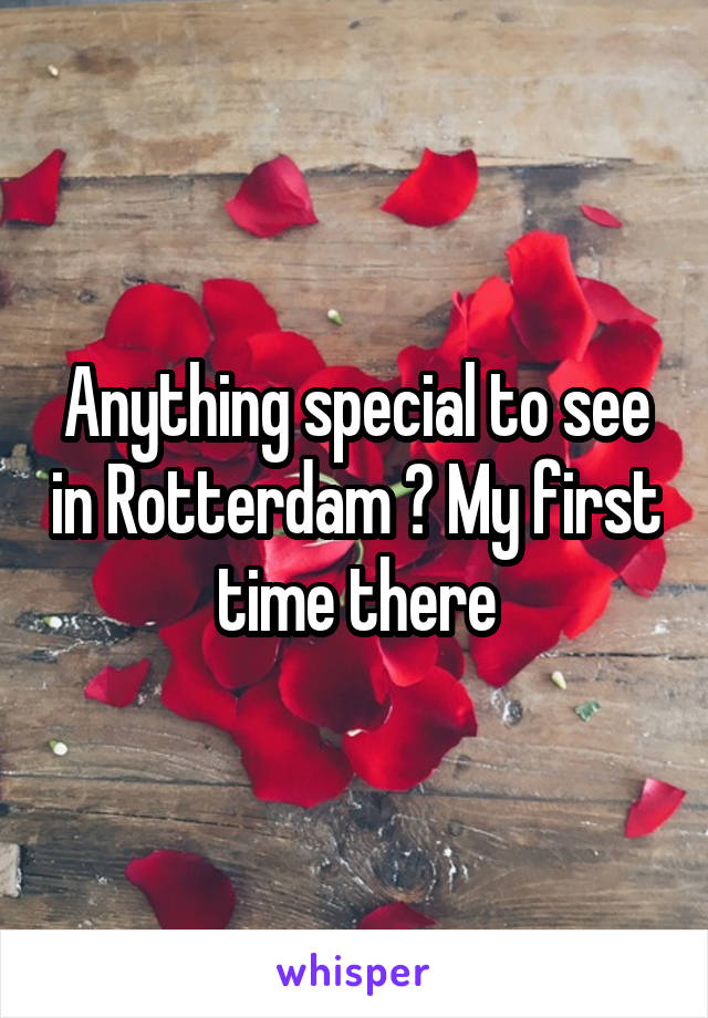 Anything special to see in Rotterdam ? My first time there