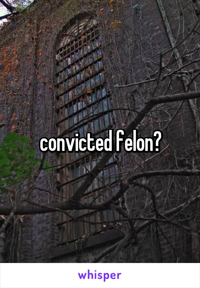 convicted felon?