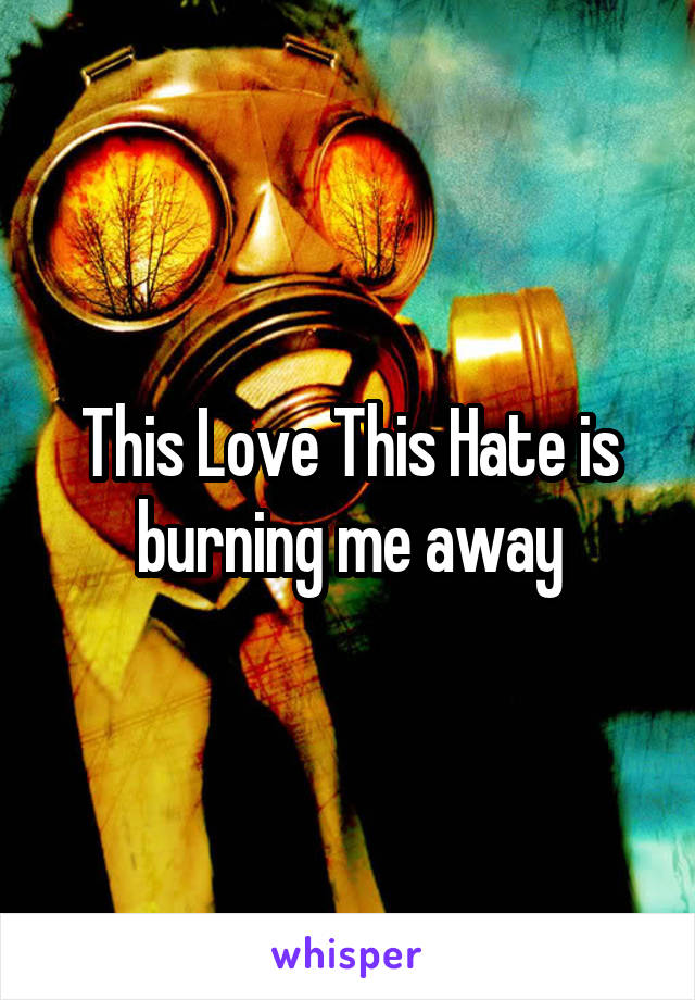 This Love This Hate is burning me away