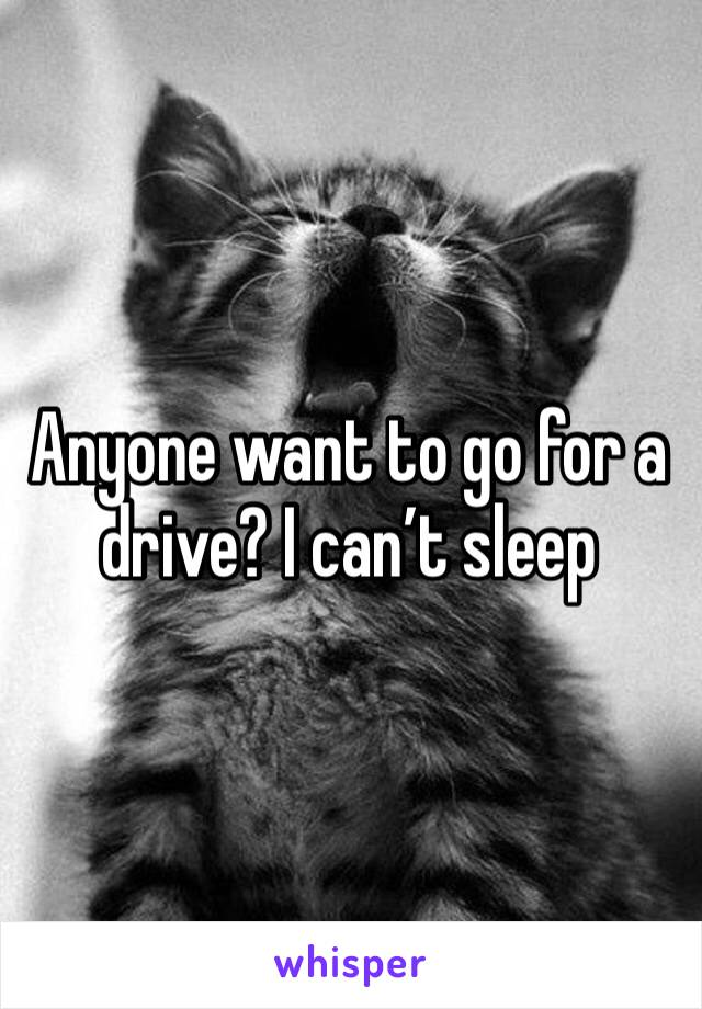 Anyone want to go for a drive? I can't sleep